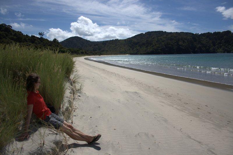 Julie on Maori Beach