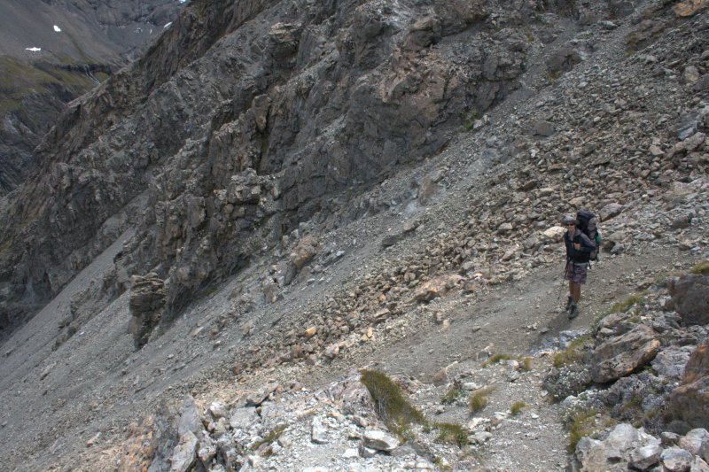 Top of Gravel Scree Slope