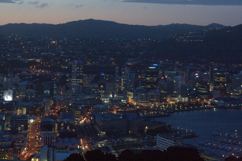 Night Glow of Wellington from Mt. Victoria