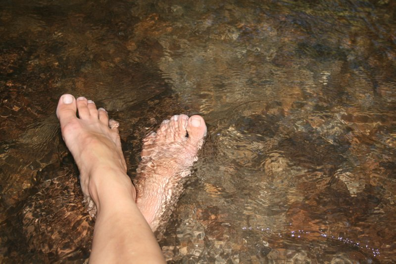 Kerosene Creek Feet Soak