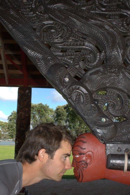 Hongi (Traditional Maori Greeting)
