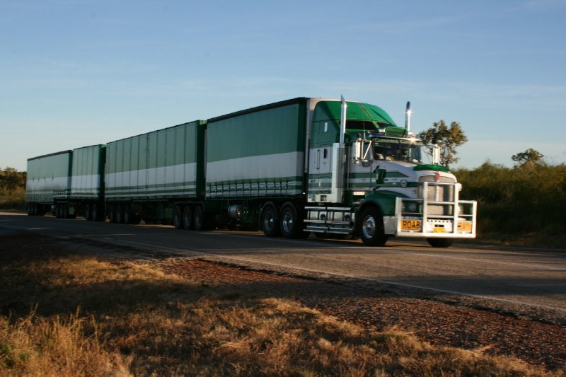 One of many Road Trains in the Outback