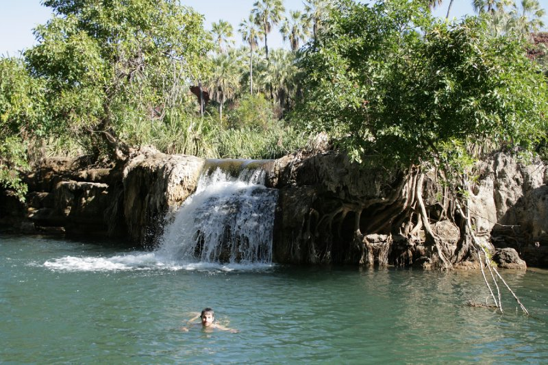 Swimming with the Crocs at Indarri Falls