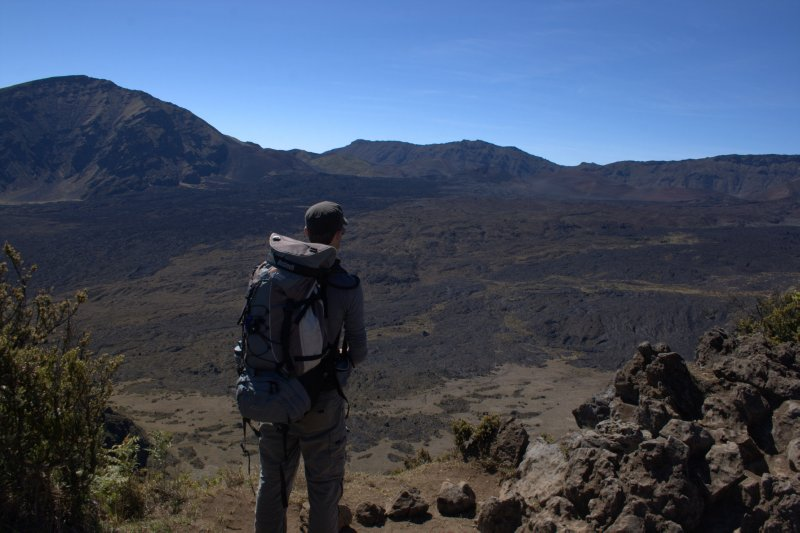 Nate Looking into Haleakala Crater