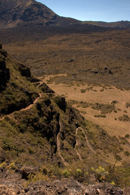 Switchback Trail into Haleakala Crater
