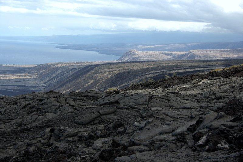 Old Lava Flows Toward Ocean