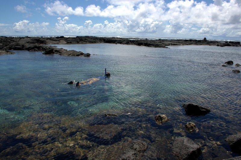 Nate Snorkeling in Tidepools
