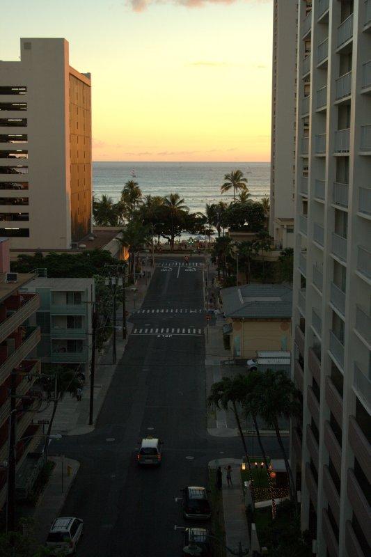 View of Waikiki Beach From Hotel
