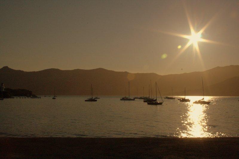 Sunset in Akaroa Harbour