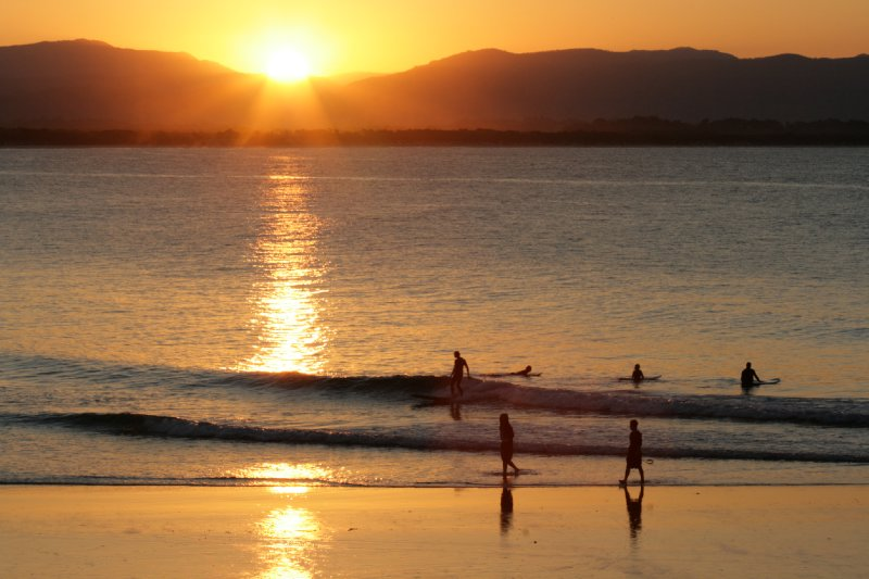 Sunset Surfing