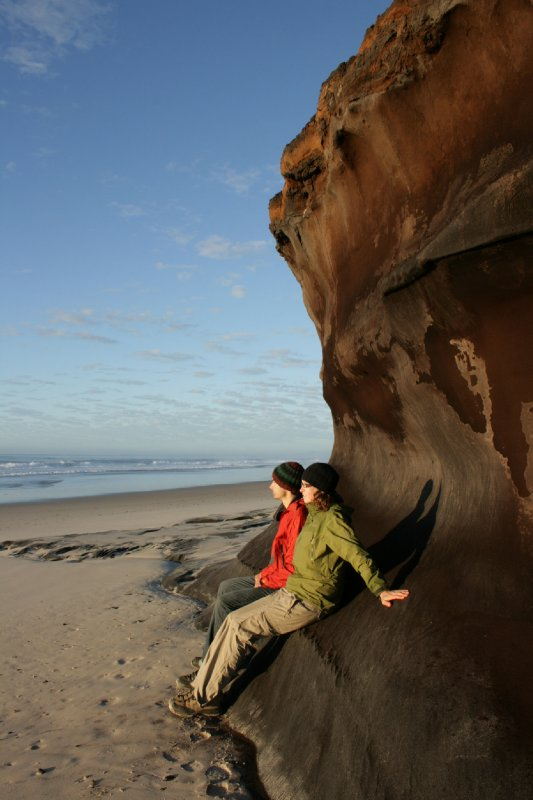 Sunrise at Bundjalung NP (Strange Face in Rocks!?)