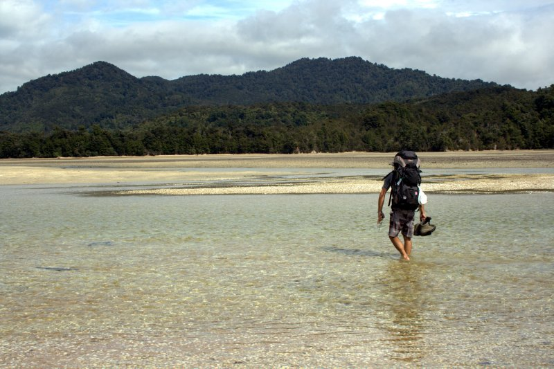 Awaroa Inlet Lowtide Crossing