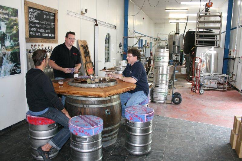 Sampling at Westcoast Brewing