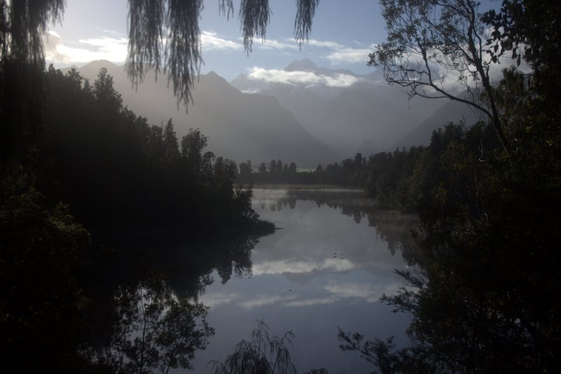Lake Matheson and Southern Alps