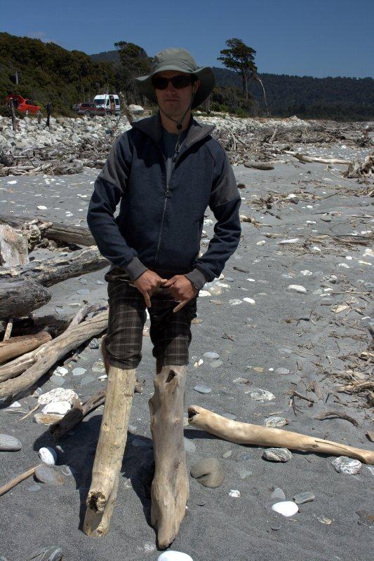 Bruce Bay's Maori Beach - Driftwood Madness