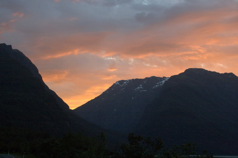 Sunset in Haast Pass