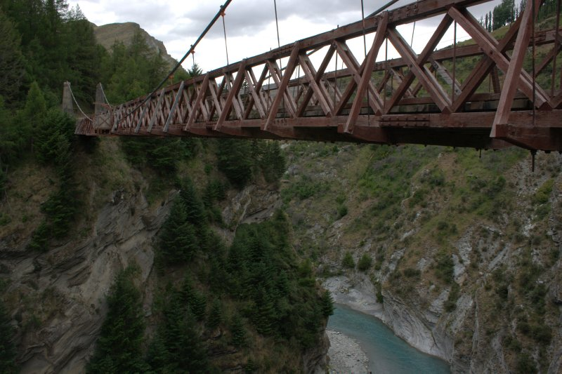 Wooden Bridge over Shotover River