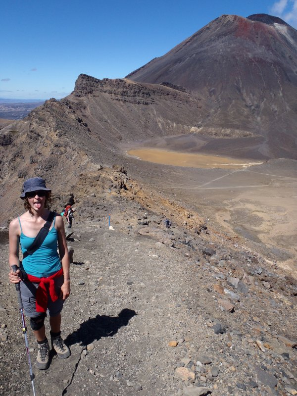Hiking up to Red Crater