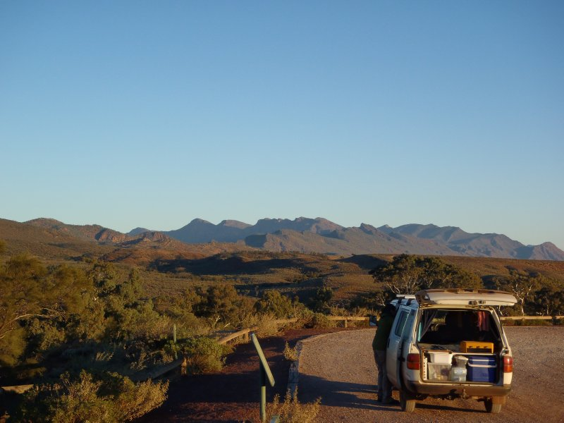 Cliff in Flinders Ranges NP