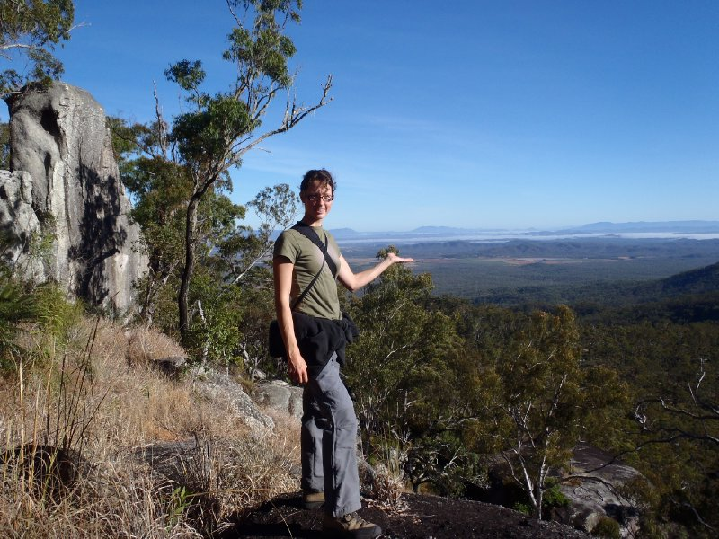 Julie on the Turtle Rock Trail in Dinden NP