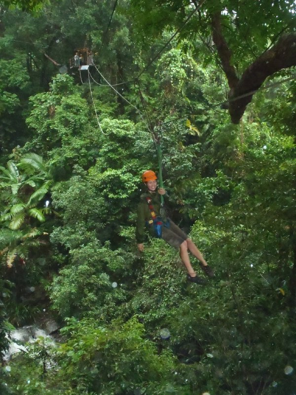 Julie Zip-Lining