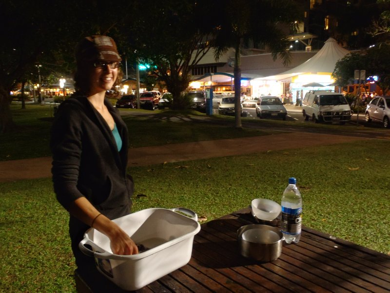 Washing Up After Dinner in Cairns