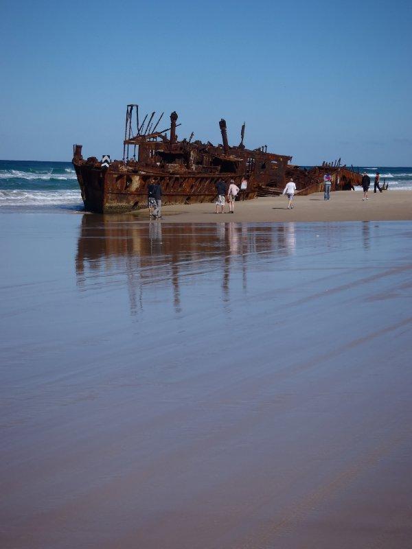 Maheno Shipwreck in 1935