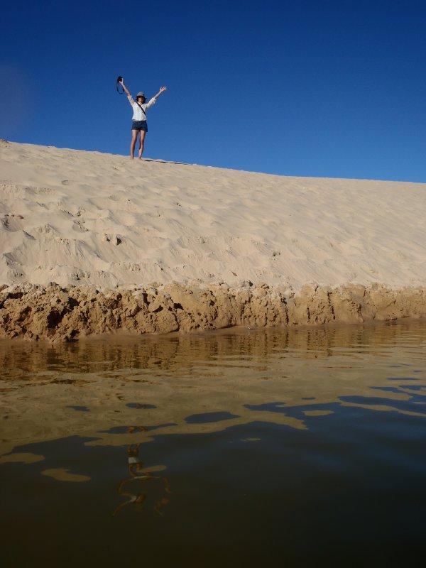 Dulingbara Sandblow engulfing Lake Wabby