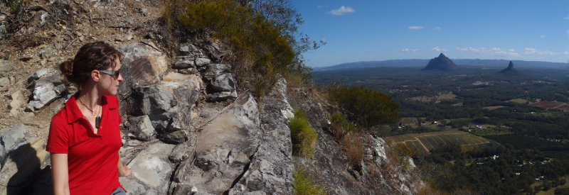 View of Mt. Beerwah and Mt. Coonowrin from Mt. Tibrogargen Summit