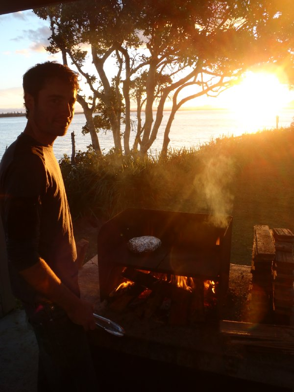 Sunset BBQ at Trial Bay