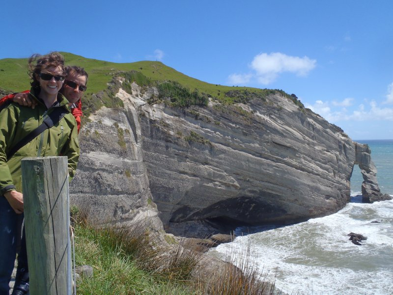 Nate and Julie at Cape Farewell