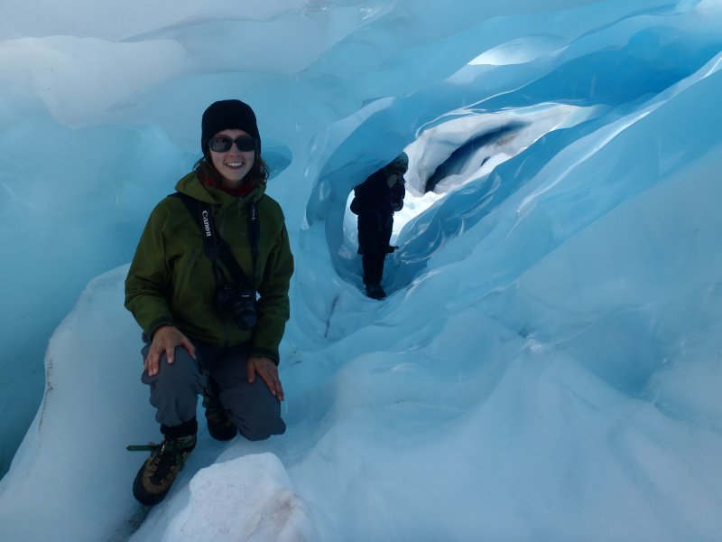 Blue Ice Arch on Fox Glacier