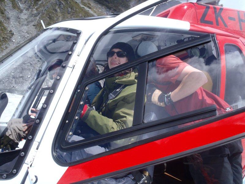 Julie Riding Shotgun