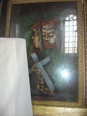 painting representing Jesus and Mary