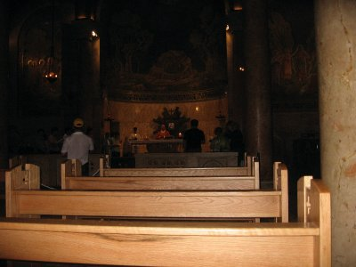 Church of All Nations (pew area where I was writing)