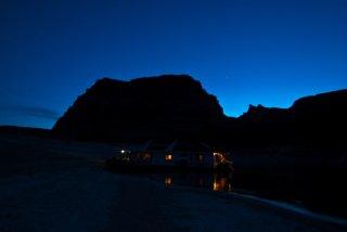 Padre Bay Night Sky Siloutte