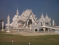Amazing Wat Rong Khun, also known as the White Temple, in Chiang Rai