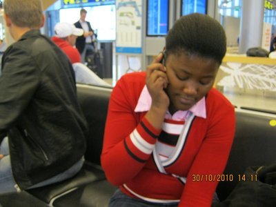 Sipho on phone