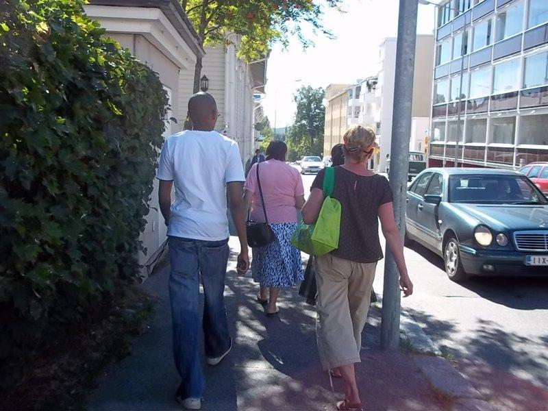 Walking fast wit Tuija!