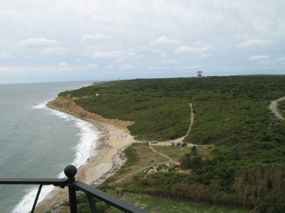 Montauk Point, as seen from the lighthouse