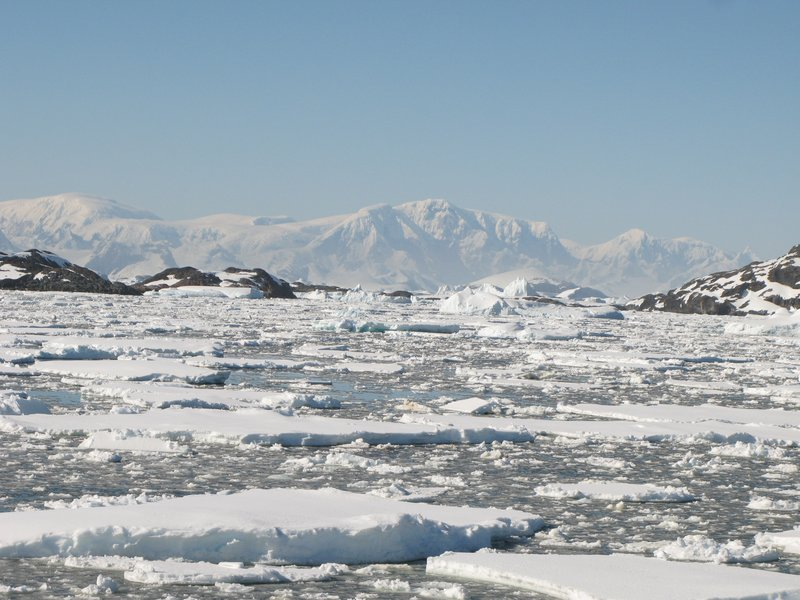 Typical southern Antarctic scene