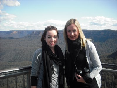Lauren and Shona in The Blue Mountains