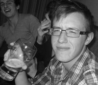 Me on my 18th having a pint
