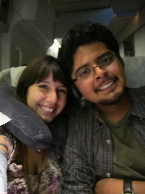 on the plane!