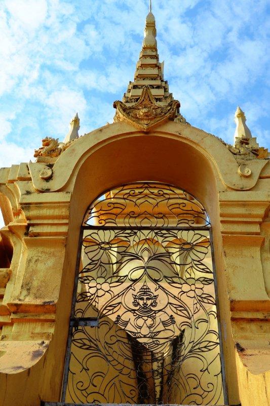 Ornamental gate on the Golden Stupa, Vientiane, Laos