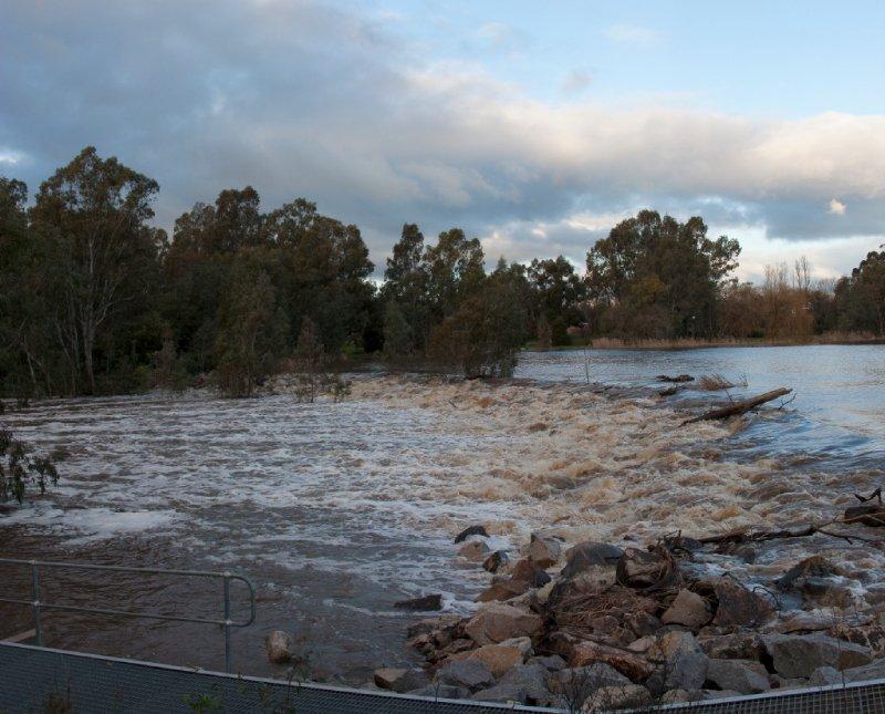 Benalla Lake after rain