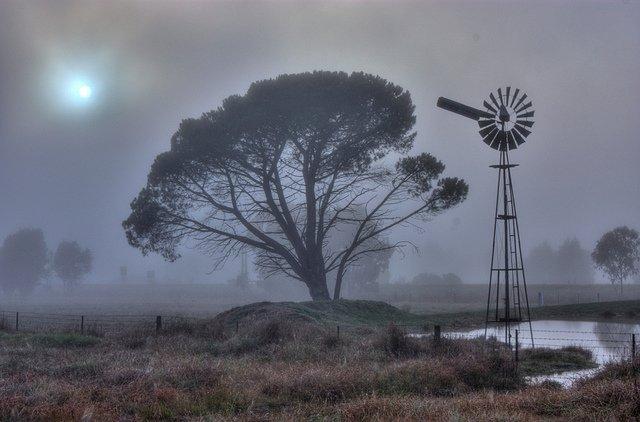 Windmill in Fog