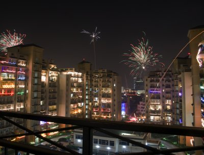 Diwali fireworks in Gurgaon