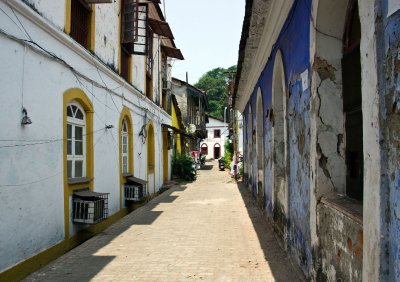 Streets of Panaji in the Latin Quarter