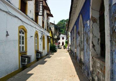 Streets of Panaji in the Latin Quarter